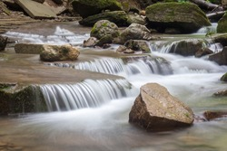 Small Waterfall in deep forest