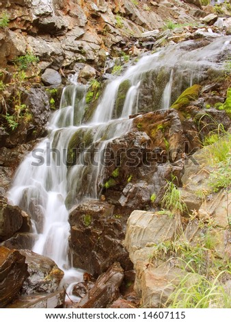 small waterfall in mountain East Siberia