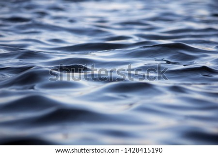 small waves in water created by a weak wind.  #1428415190