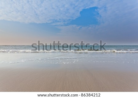 Small waves on the beach