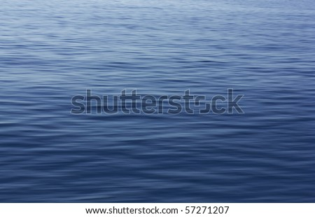 Small waves on water surface in motion blur.