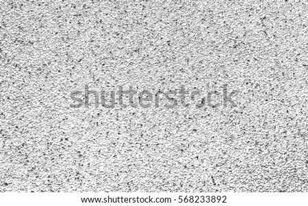 small white gravel on concrete texture background