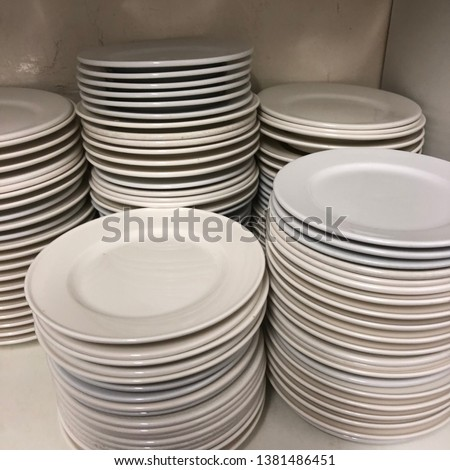 Small White Plates, Side Plates, Pile of Plates
