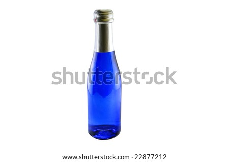 Small wine bottle - stock photo
