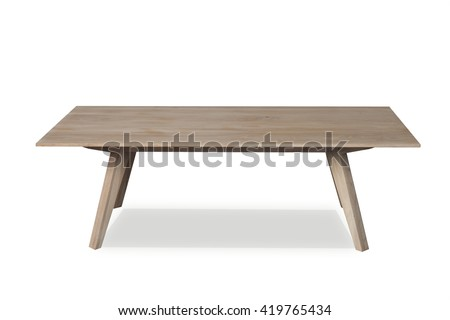Shutterstock Small wooden coffe table isolated on a white background front view