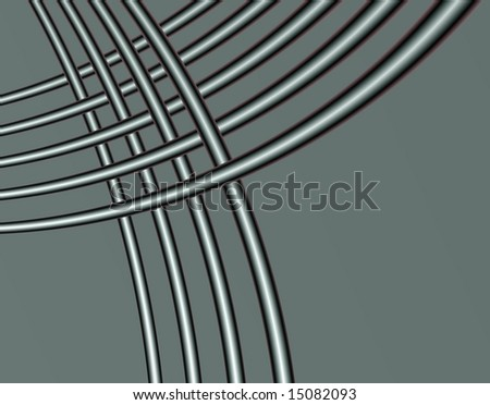 Small woven Curved Tubes on grey background.