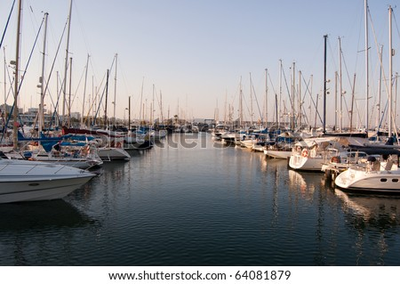 small yachts in a Larnaka harbor