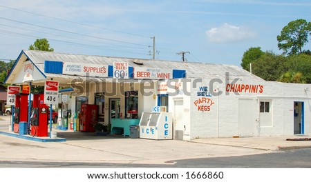 Smalltown gas-station/store, Florida
