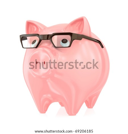 Smart bank concept. Isolated on white.