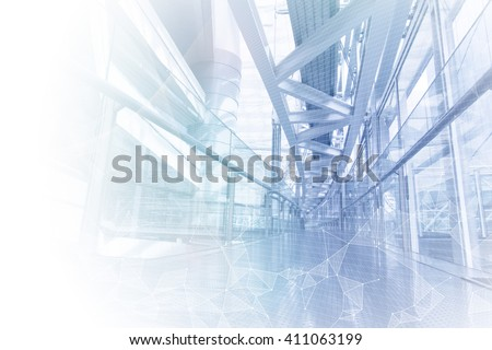 Shutterstock smart building and mesh network, abstract image visual