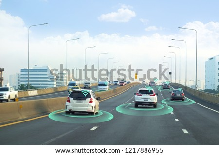 Smart car, self-driving mode vehicle with Radar signal system and and wireless communication, Autonomous car