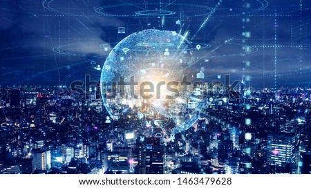 Smart city and global communication network concept. #1463479628