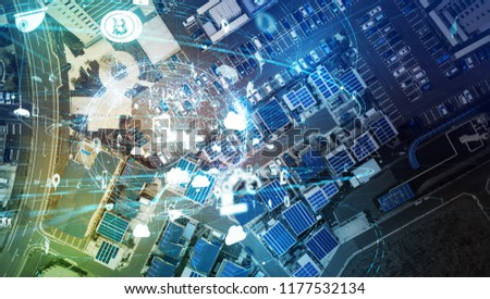 Smart city and Internet of Things concept. #1177532134