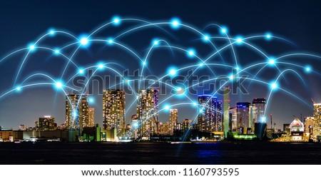 Smart city and telecommunication concept. #1160793595