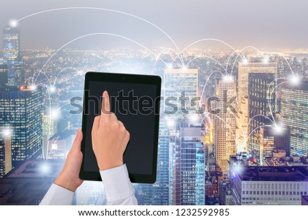 Smart city in innovation concept #1232592985