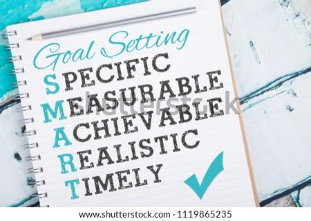 SMART goal setting strategy #1119865235
