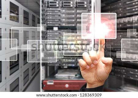 smart hand press on window icon