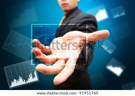 Smart hand show report graph in 3D