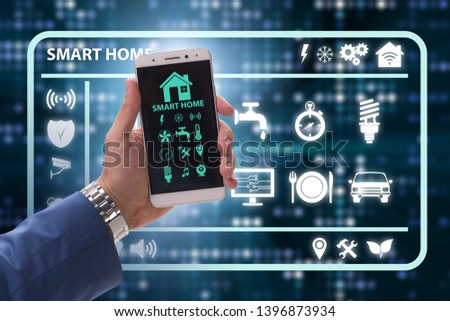 Smart home concept with devices and appliances #1396873934