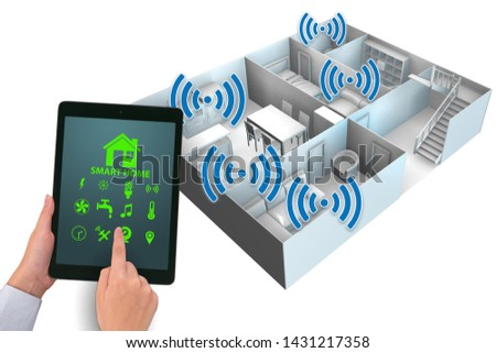Smart home concept with devices and appliances #1431217358