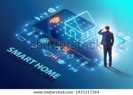 Smart home concept with devices and appliances #1431217364