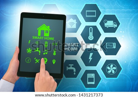 Smart home concept with devices and appliances #1431217373
