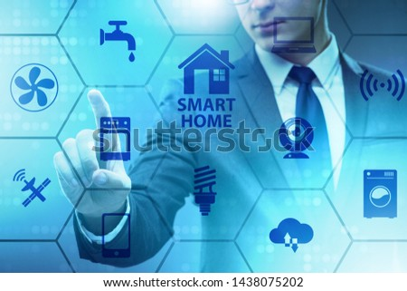 Smart home concept with devices and appliances #1438075202