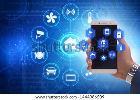 Smart home concept with devices and appliances #1444086509