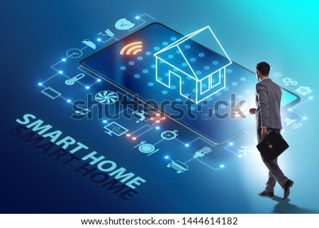 Smart home concept with devices and appliances #1444614182