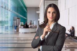 Smart intelligent executive financial officer cfo at major bank for global stock market investment