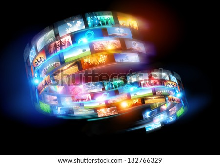 Smart Media world. Connected media and social events broadcast throughout the world.