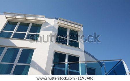 Smart modern home - stock photo