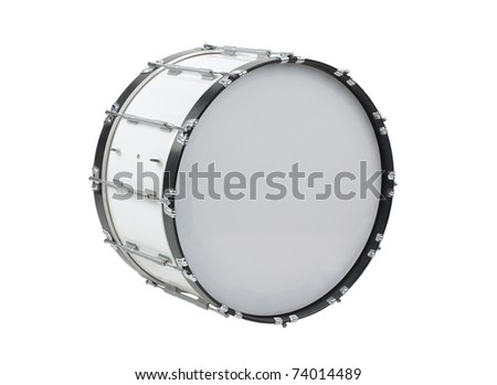 Smart parade to the field by the rhythm of marching drum