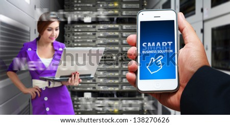 Smart phone and programmer in data center room