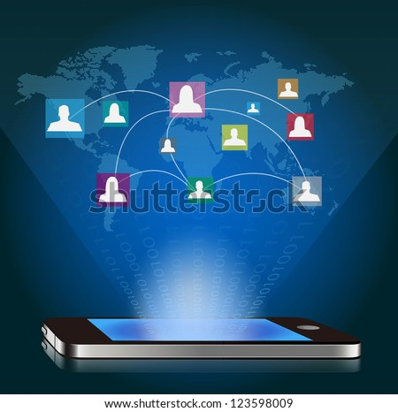 smart phone and social network communication