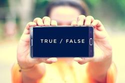 smart phone display true or false on screen