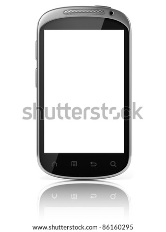 smart phone isolated