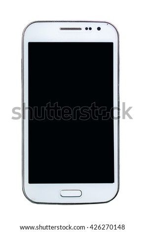 smart phone isolated on white.