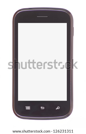 Smart phone isolated on white background