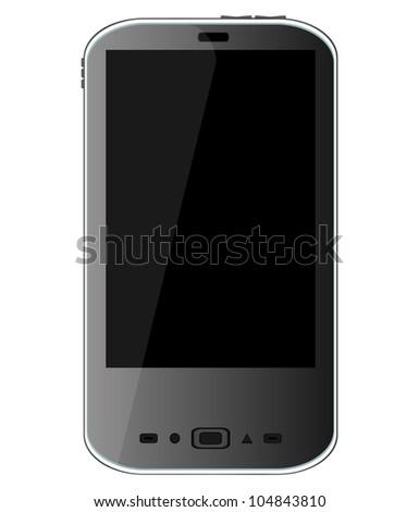 smart phone isolated - raster