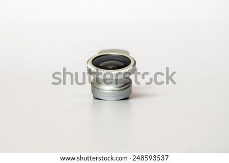 smart phone len clip for macro on white background