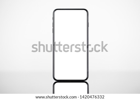 Smart phone, mobile phone isolated with blank full screen.