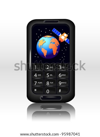 Smart Phone with Earth