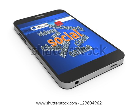 Smart phone with social media sites