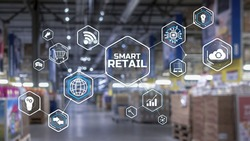 Smart retail 2021 and omni channel concept. Shopping concept 2021.