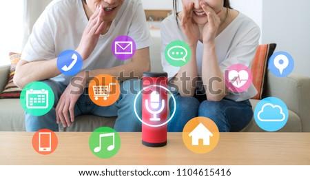 Smart speaker concept. AI speaker.