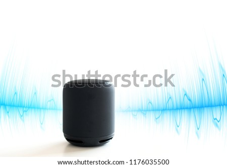 Smart speaker isolated on white #1176035500