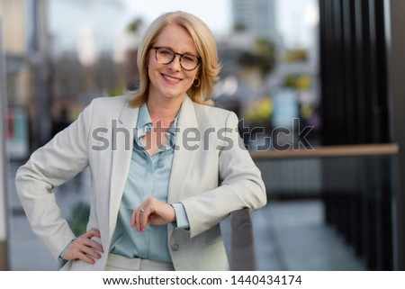 Smart successful business woman, financial representative, legal attorney, consultant, modern professional at the workplace