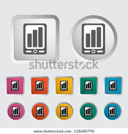 Smartphone icon. Vector version also available in my portfolio.