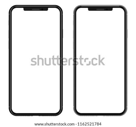 Smartphone isolated on white background.  #1162521784